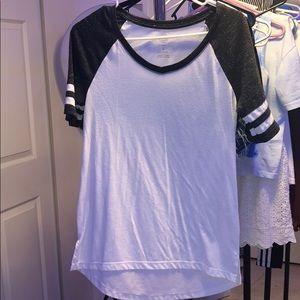 Grey and white long  shirt